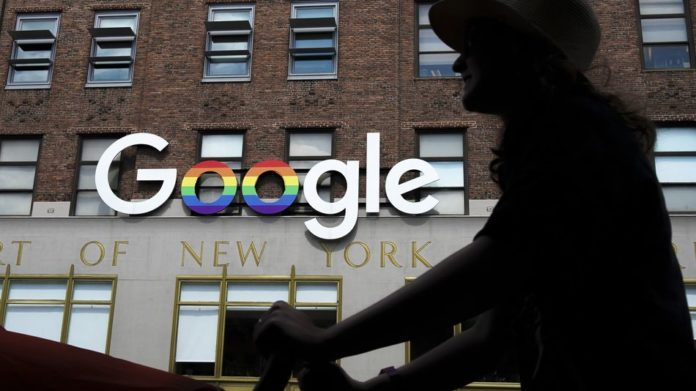 Google's founder skips shareholder meeting amid protests